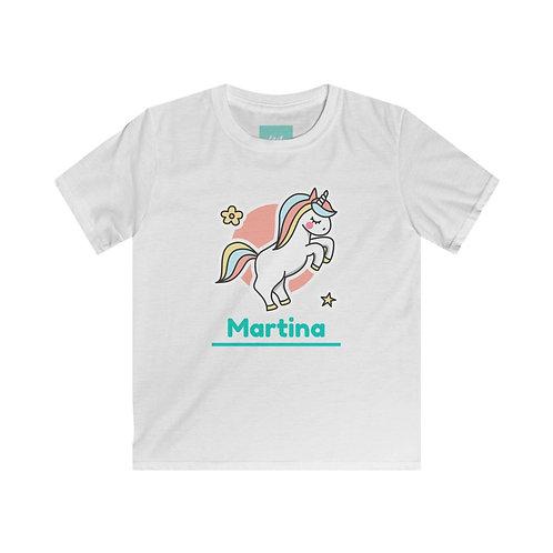 "Kids Unicorn Love T-Shirt "" Personalizzabile """