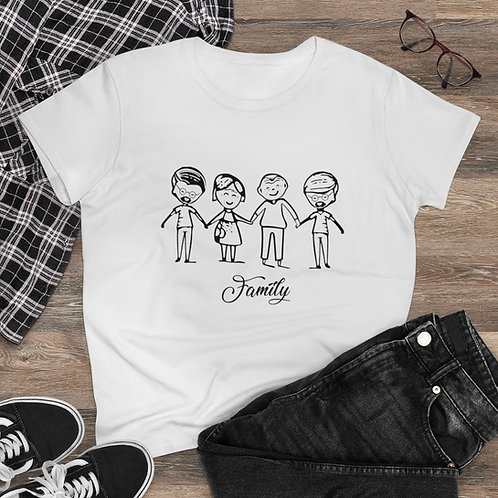 "Family Love T-Shirt Donna ""Personalizzabile"""