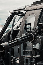 close-up-photo-of-black-helicopter-with-