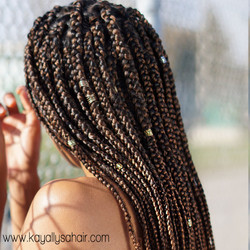 Ombre Braids (Triangle Parting)