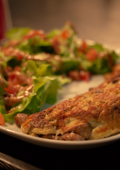 Salade d'omelette au fromage