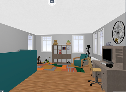 rendering of restored historic old house - playroom