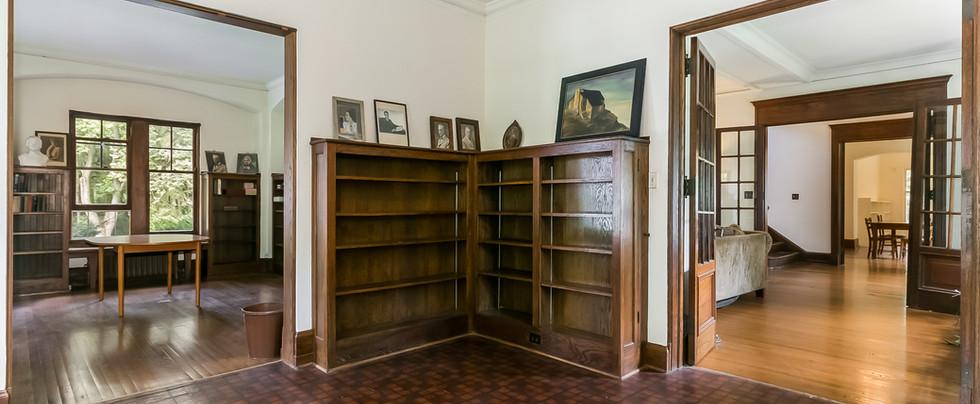 Veranda Enclosed in 1936 to Extend Library