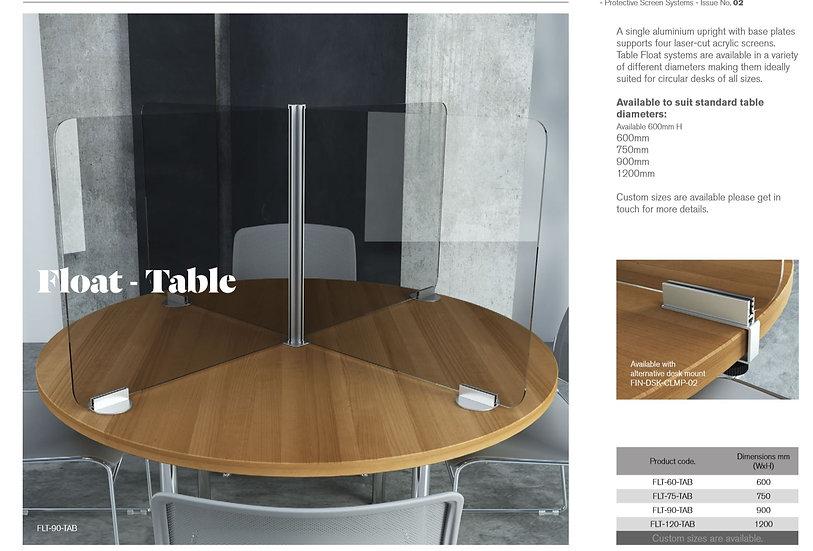 Float Circular Desk Divider