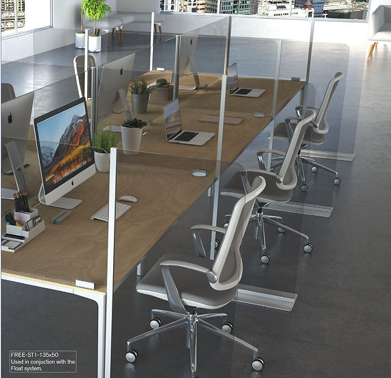 FREE-ST1 floor standing desk divisions