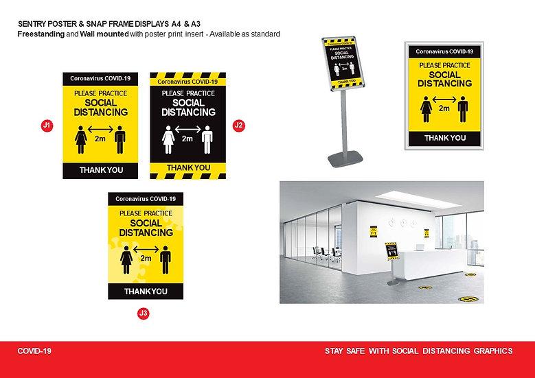 Floor standing Snap Frame poster