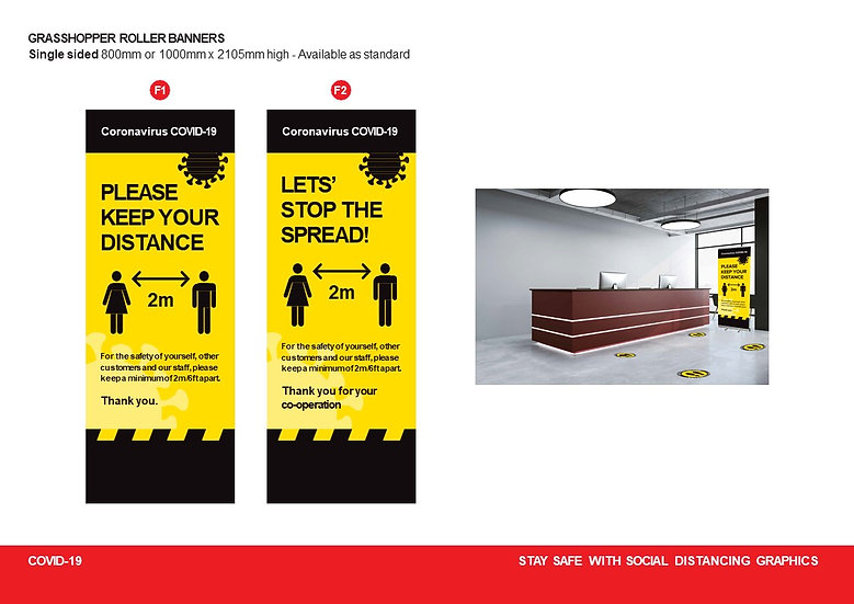 800 mm wide pull up banner