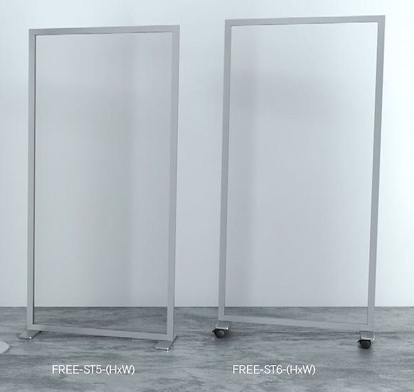 FREE ST5 Rectangular Base Aluminium and Acrylic Divider