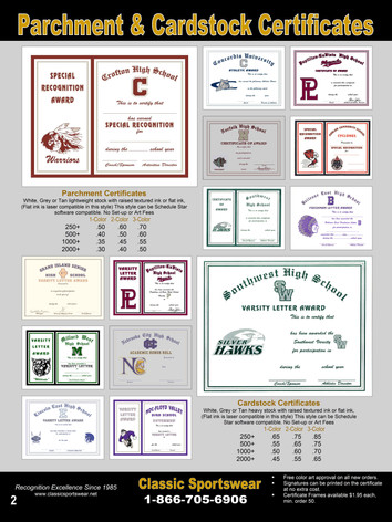 Parchment & Cardstock Certificates