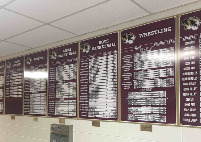 Updateable Record Boards with Funding Plates
