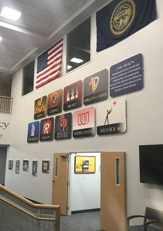 School District PVC Boards and Flags
