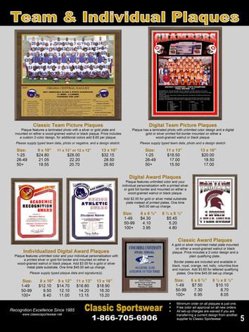 Team & Individual Plaques