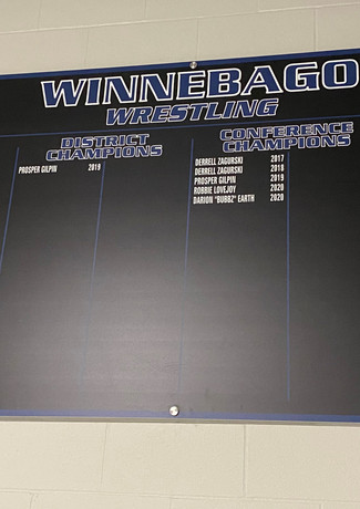 Updateable 4x8 Record Boards Mounted with Sign Standoffs