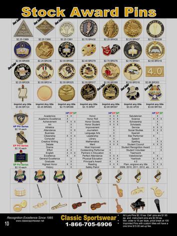 Stock Award Pins