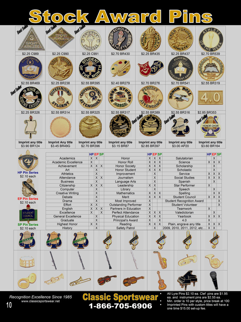 Stock Award Pins