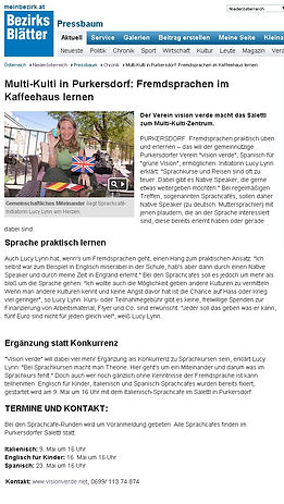Sprachcafe_Presse_Bezirksblatt