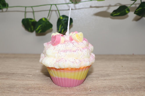 NATURAL SOY WAX CUPCAKE CANDLE - LOLLY SHOPPE