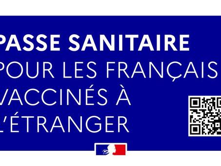 Passe Sanitaire pour les français vivant à l'étranger