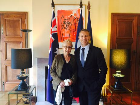 Avec ma collègue et amie Marie-Claire Guilbaud, ancienne conseillère à l'AFE et Conseillere des Français de l'Etranger