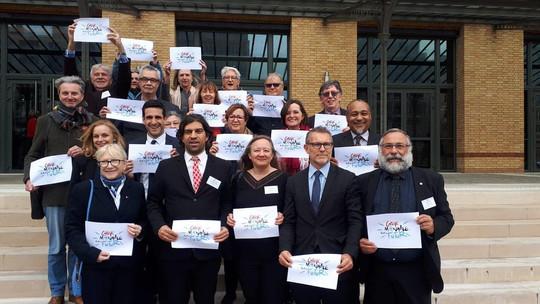 Avec mes collègues du Groupe Français du Monde Ecologie et Solidarité à l'AFE à l'occasion de la grève mondiale pour le climat