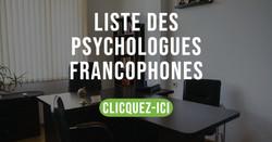 LISTE DE PSYCHOLOGUES FRANCOPHONES DANS LES AGGLOMERATIONS DE SYDNEY ET MELBOURNE