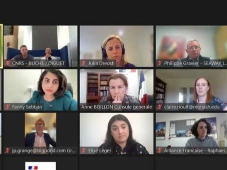 Rencontre virtuelle du 7/10 dernier avec les principaux acteurs de la communauté d'Australie du Sud.