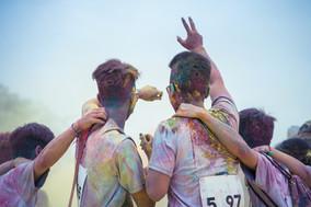 People Dancing at Color Run