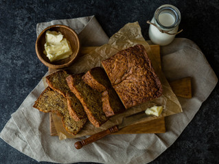 Sugar-free Chocolate Banana Bread