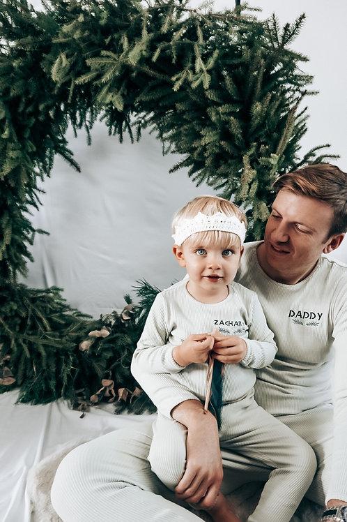 Kids Sage Mistletoe Christmas Pyjamas