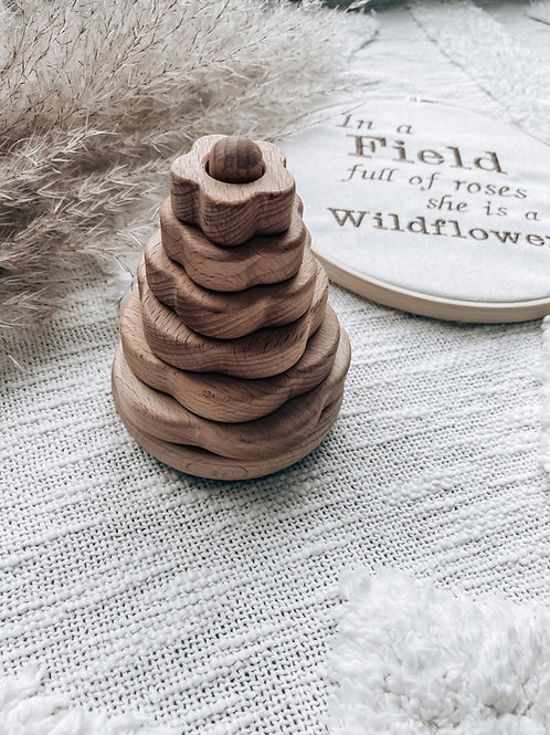 Flower Wooden Stacking Toy