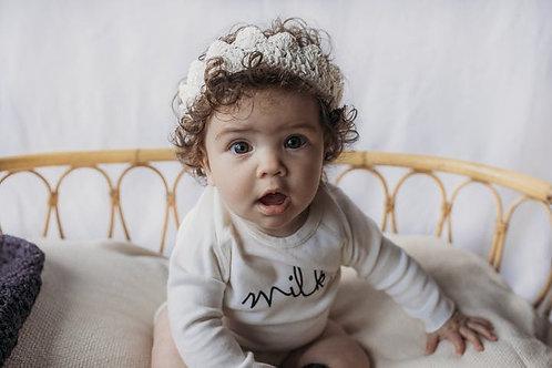 Gooseberry Fool Crochet Crown Cream