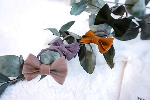 Handmade Suede Hair Bow Ties (2 pack)