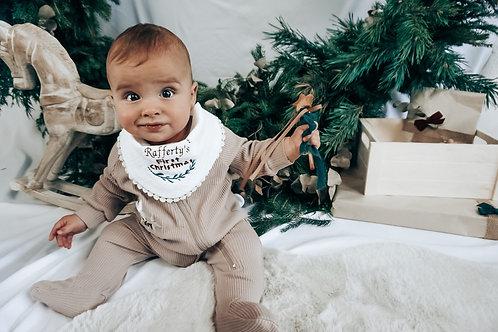Christmas Muslin Bib