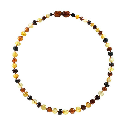 Multi Amber Teething Necklace