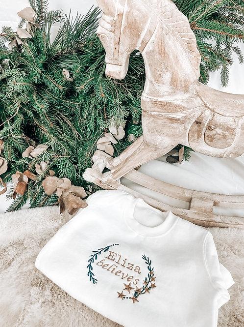 Older Sizes White Sweatshirt- Various Designs