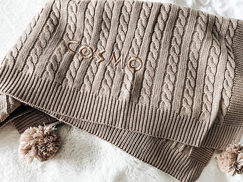 Coffee Soft Waffle Blanket