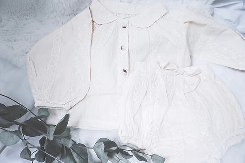 Broderie Blouse Set
