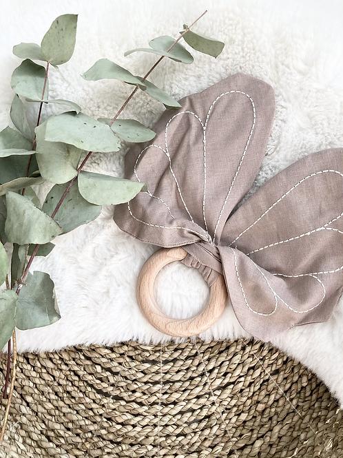 Shell Fabric Teething Ring