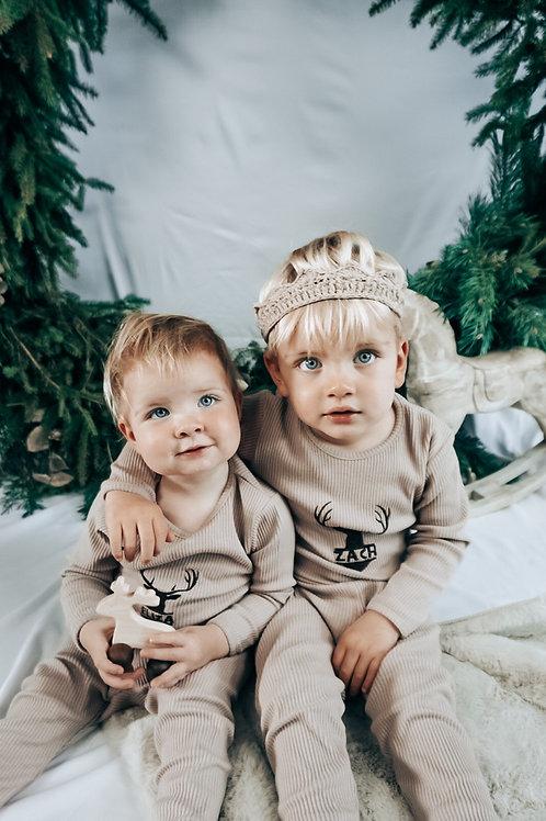 Kids Mocha  Christmas Pyjamas