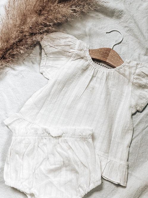 White Textured Cotton Set