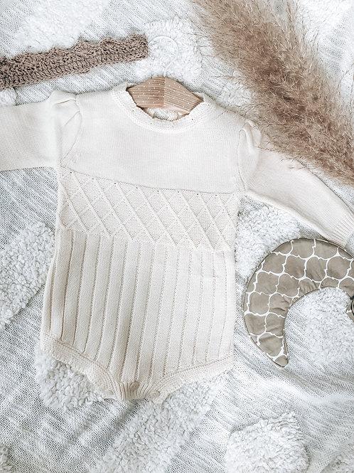 Knitted Cream Romper
