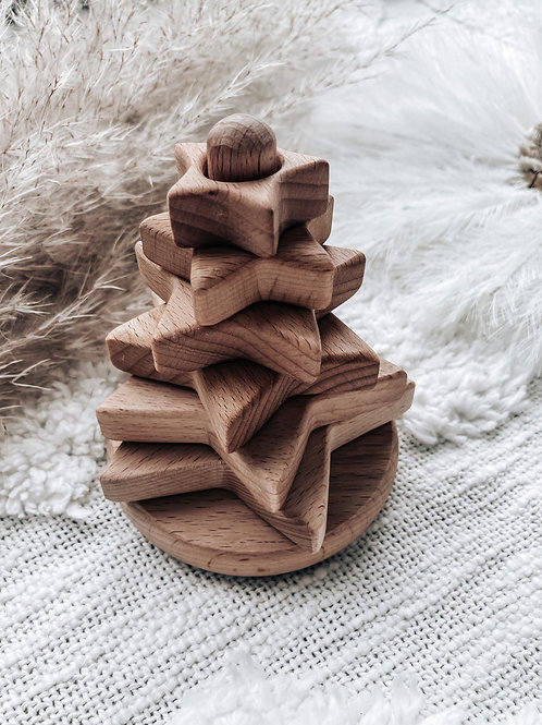 Star Wood Stacking Toy