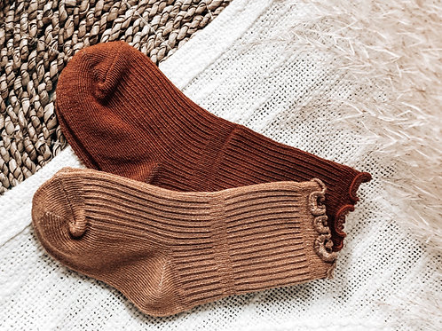 Ruffle ribbed Socks (One Pair)