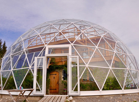 Family lives sustianably in the Artic Circle with their very own Biodome House!