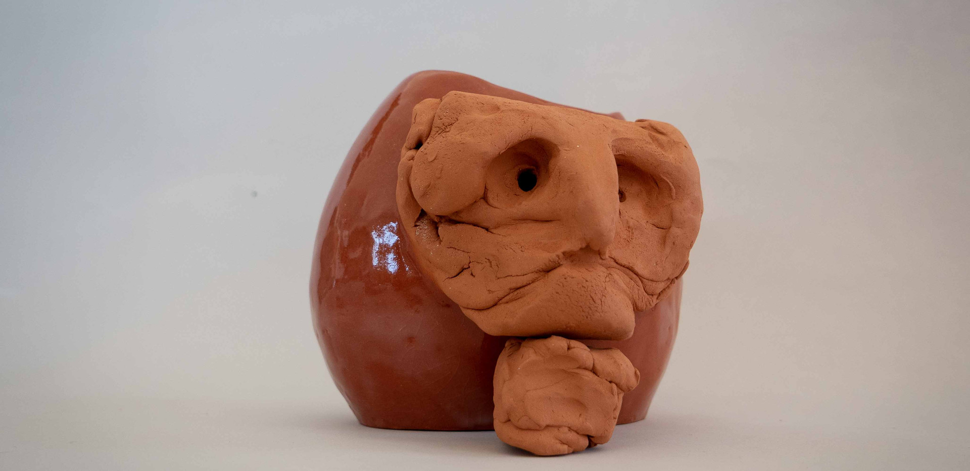 Vase with a face