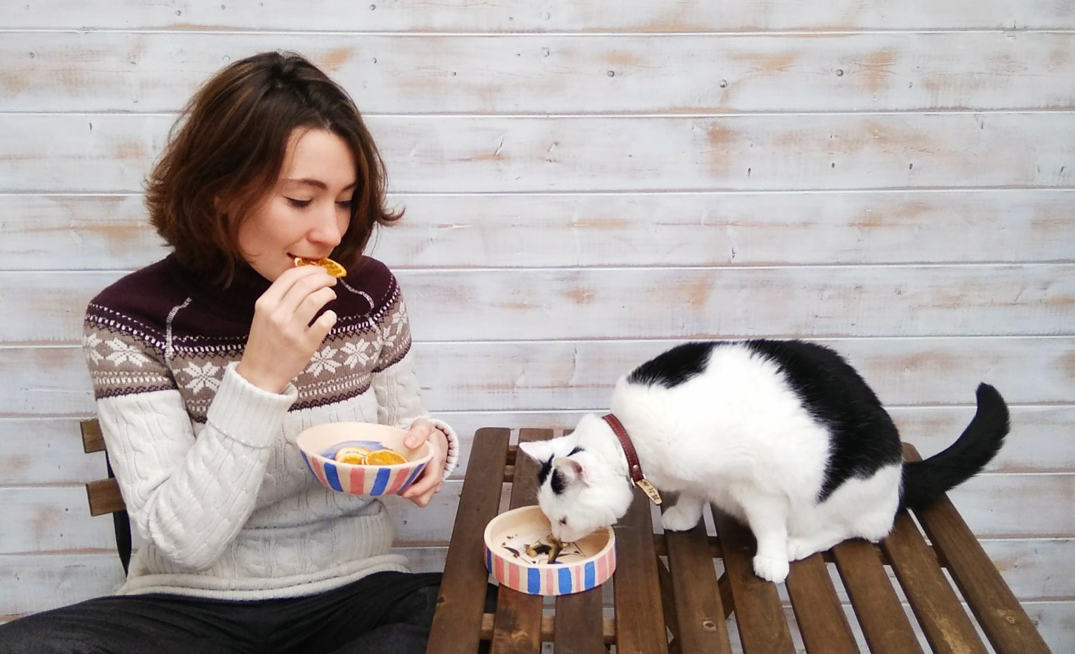 """Set of 2 bowls """"We are a team"""""""