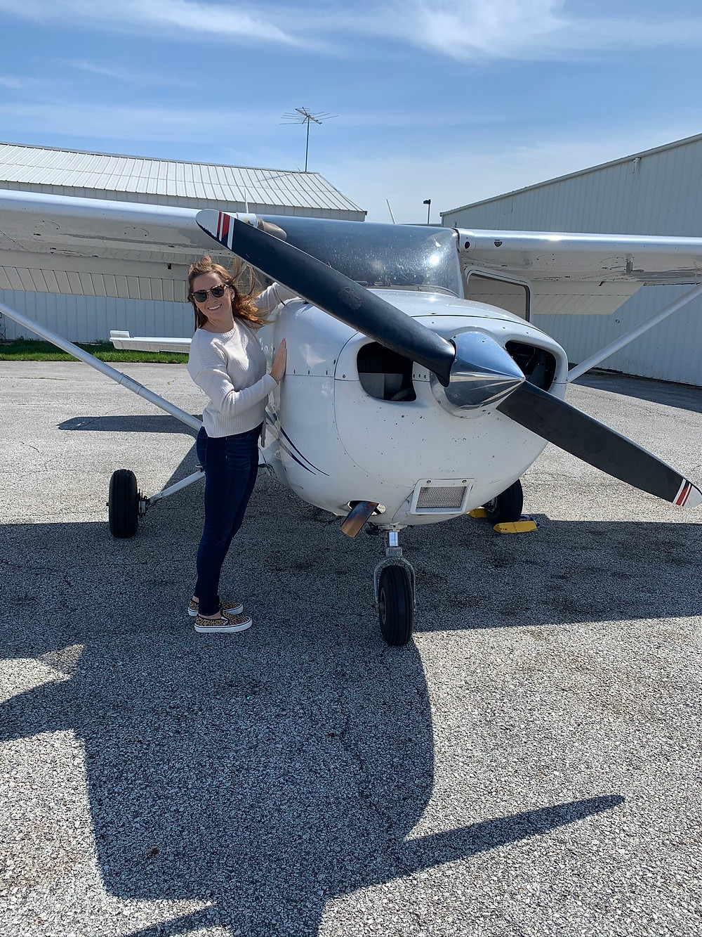 Boone Grove senior Piper Kimes not only lifts off as a conference-winning pole vaulter but also as a pilot. She will do both at Embry-Riddle next year. (Provided)