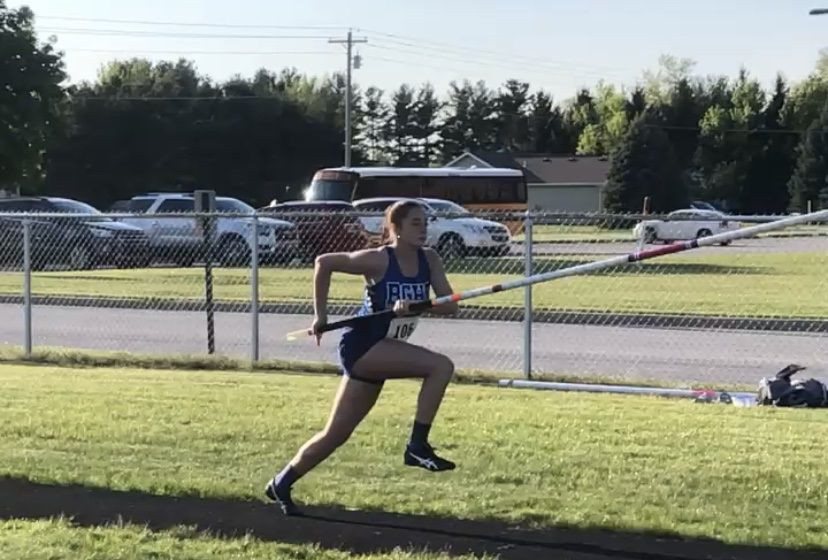 Boone Grove senior Piper Kimes will take her pole vaulting skills to Embry-Riddle, where she will continue her education as a pilot. (Provided)