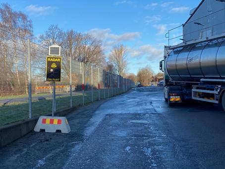 Nu finns PaceTell hastighetsdisplay hos Pågens i Göteborg.