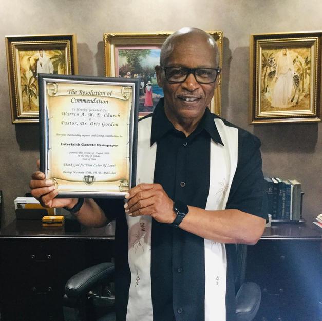 Dr. Otis Gordon, Pastor, Warren A.M.E. Church
